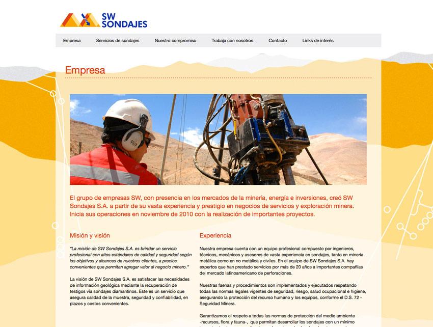 Sitio Web SW Sondajes